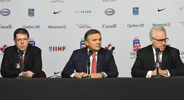Fasel, Hockey Canada meet press